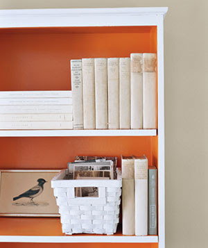 And Paint It A Fresh Coat Of White With Different Color On The Back Part Shelves Similar To This Photo I Found In My Favorite Magazine