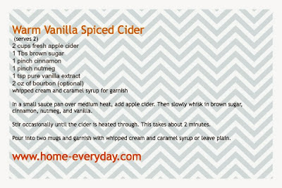 Thirsty Thursday: Warm Vanilla Spiced Cider | Home Everyday