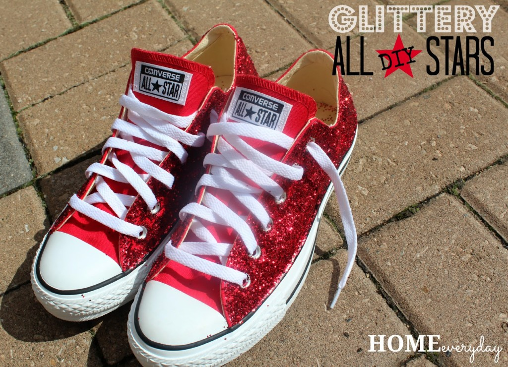 DIY Glitter Converse All Stars or There's No Place Like ...