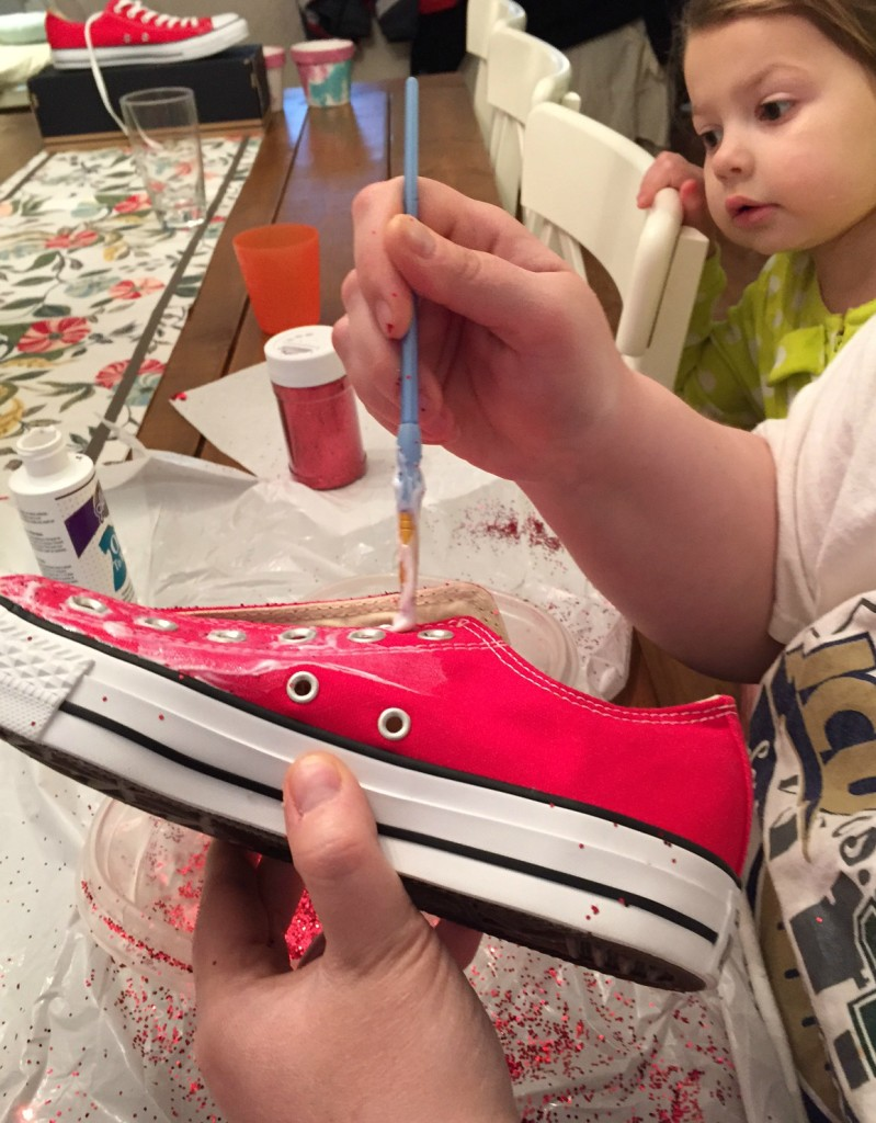 8b3b7e2d4c57 DIY Glitter Converse All Stars or There s No Place Like Home