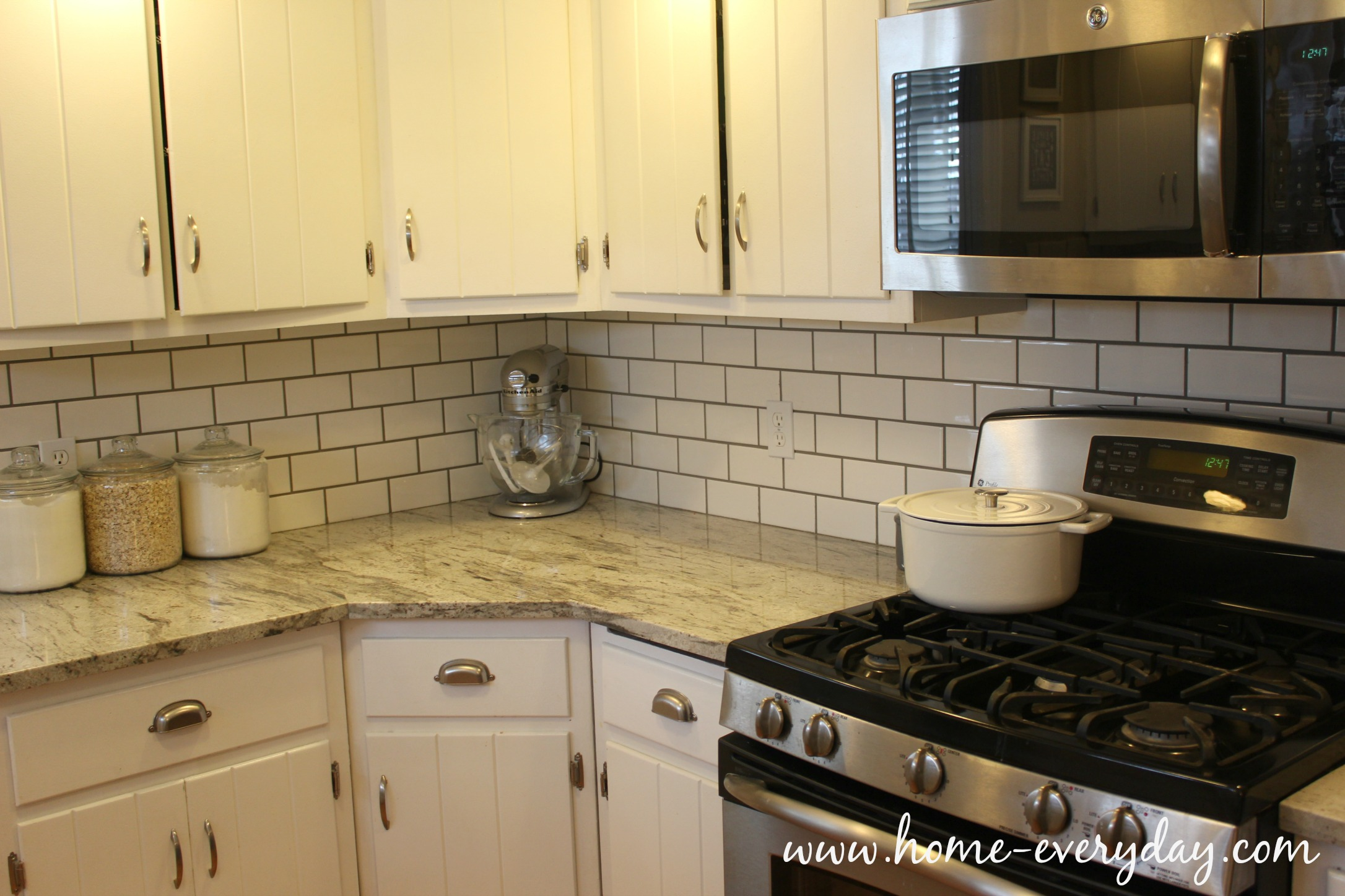 How to install a tile backsplash without thinset or mastic home backsplash without thinset 2 dailygadgetfo Choice Image